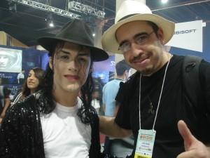 José Telmo e Michael Jackson no BGS
