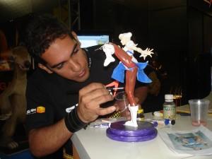 3D e Miniaturas no stand da Seven Computação