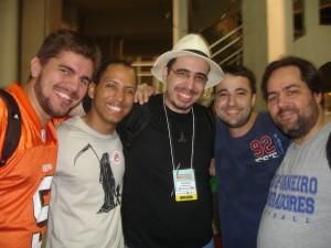 Os amigos presentes ao BGS